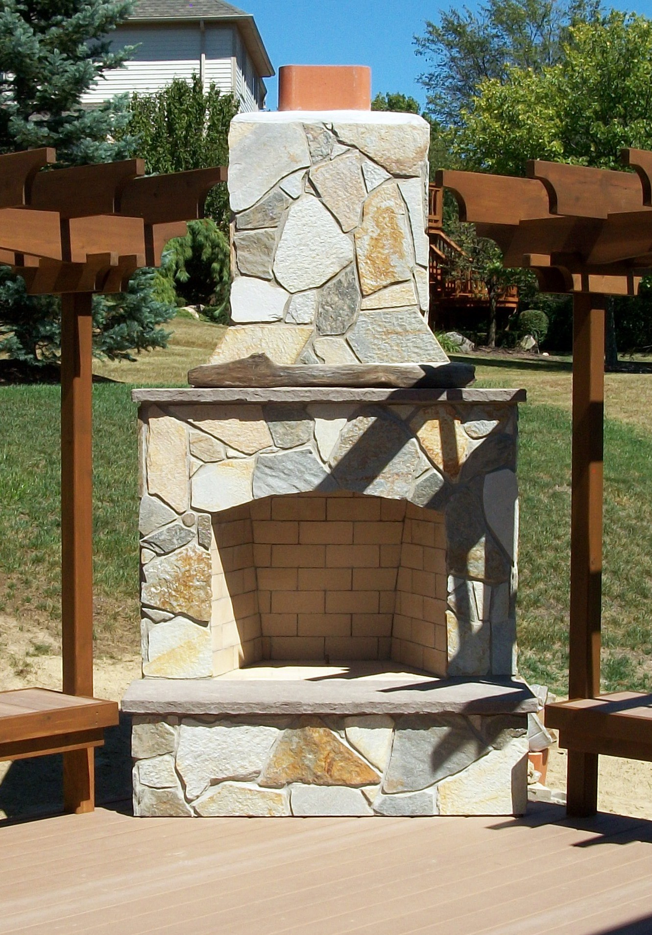 Southeastern michigan outdoor fireplaces outdoor living for Where to buy outdoor fireplace