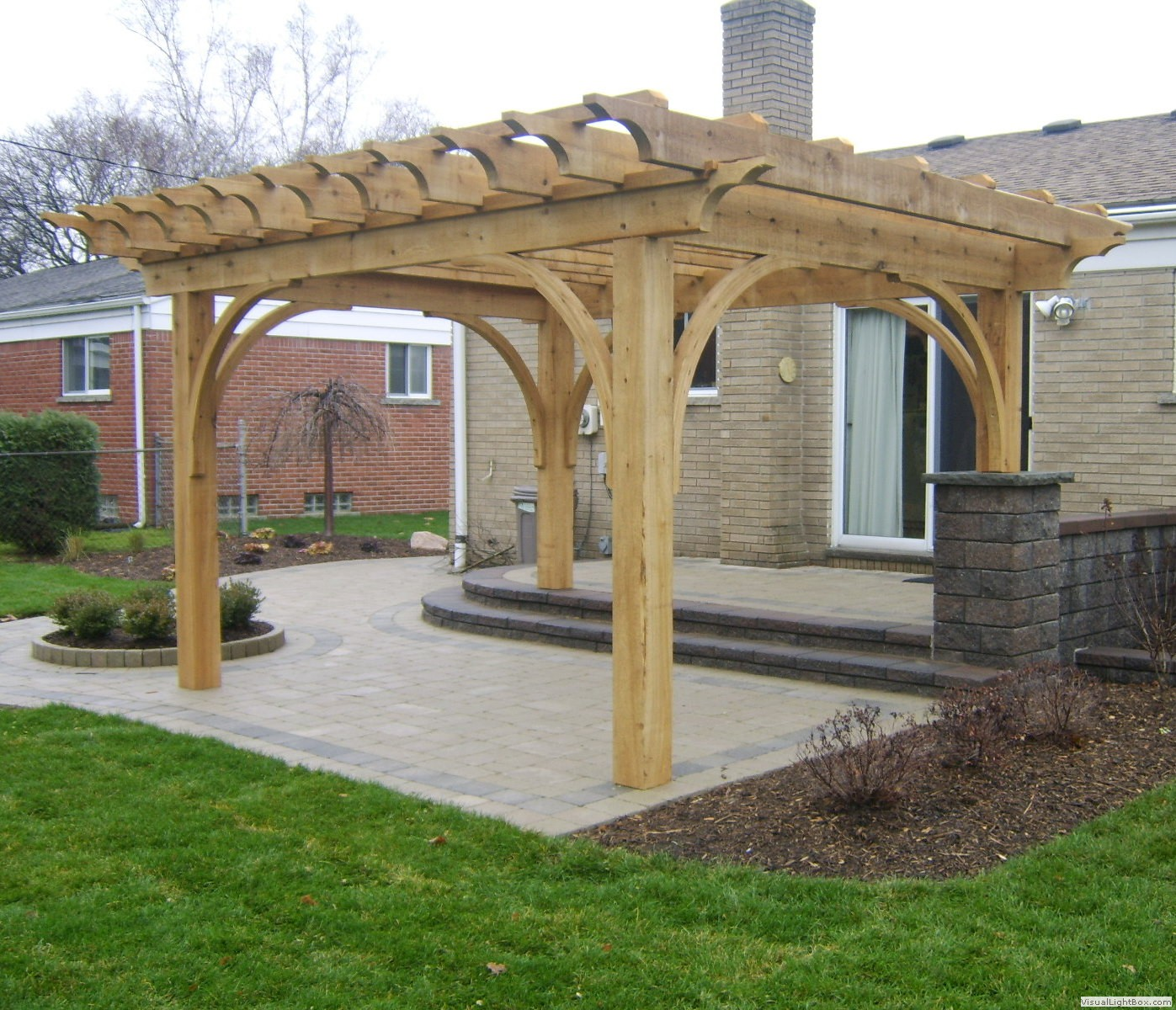 southeastern michigan custom pergolas timber structures photo gallery by gm construction in. Black Bedroom Furniture Sets. Home Design Ideas
