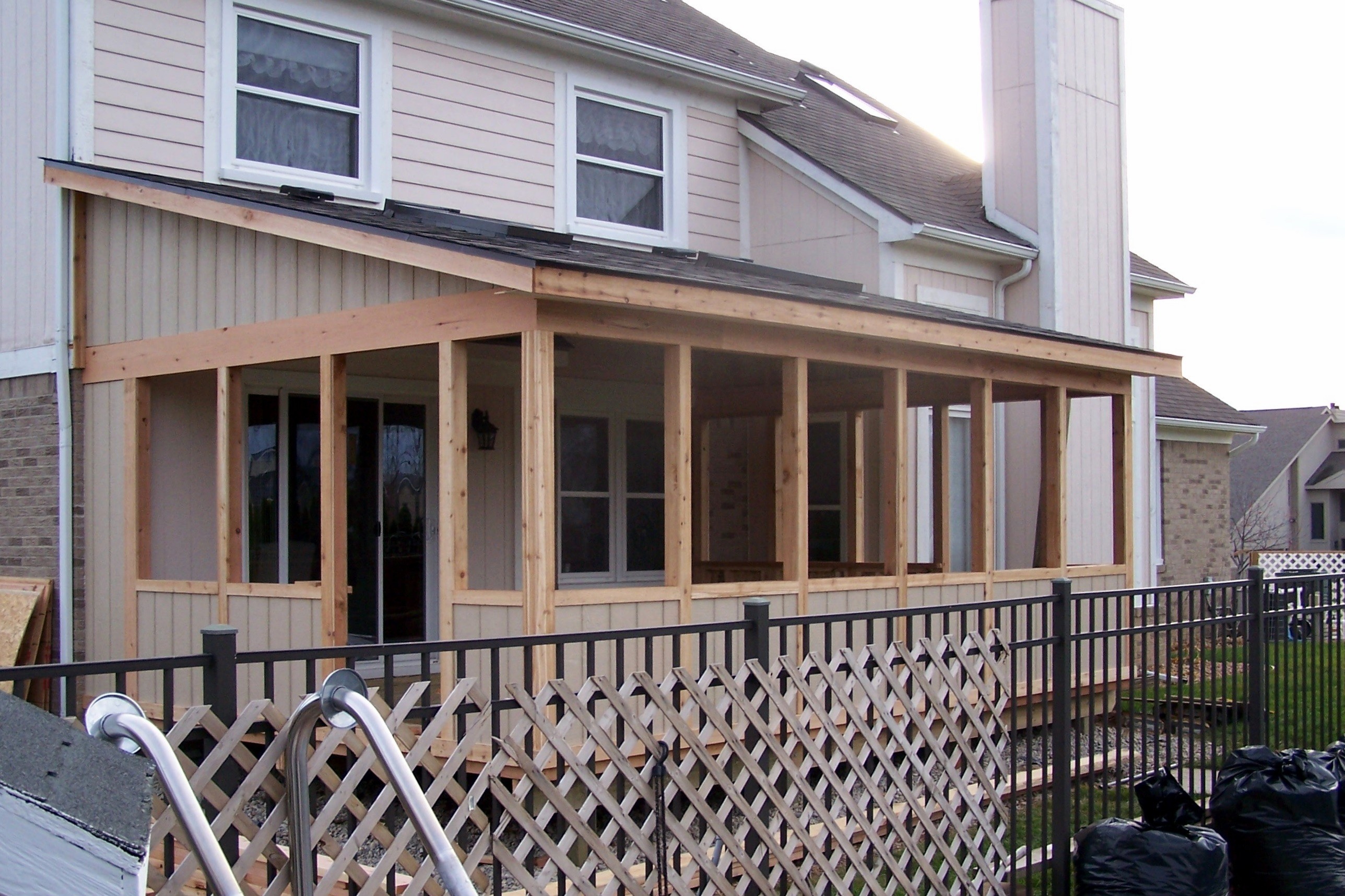 Southeastern michigan screened porches enclosures sheds Shed with screened porch