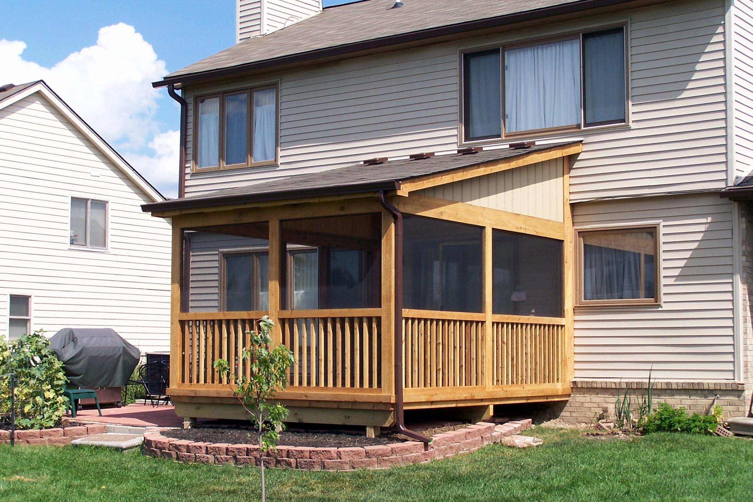 Image gallery deck enclosures for Gallery porch